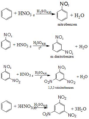 benzen + HNO3