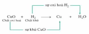 Sơ đồ biểu diễn quá trình khử và oxi hóa