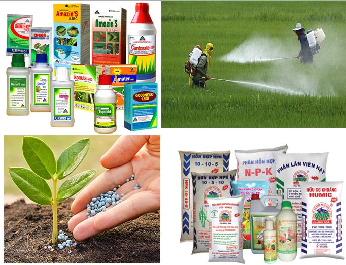 Một số loại thuốc bảo vệ thực vật và phân bón hóa học