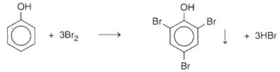 phenol + Brom
