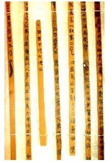Chữ viết trên thẻ tre của người Trung Quốc