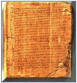 Chữ viết trên giấy Pa pi rút của người Ai Cập