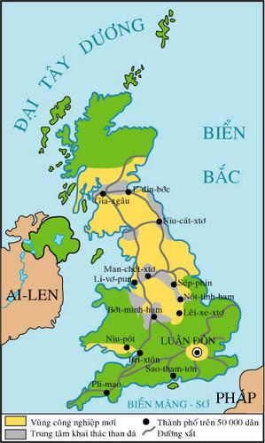 Lược đồ nước Anh nửa đầu thế kỷ XIX