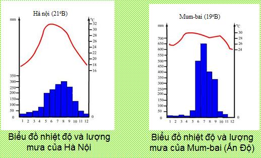 Biểu đồ lượng mưa