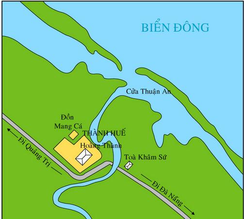 Lược đồ kinh thành Huế 1885