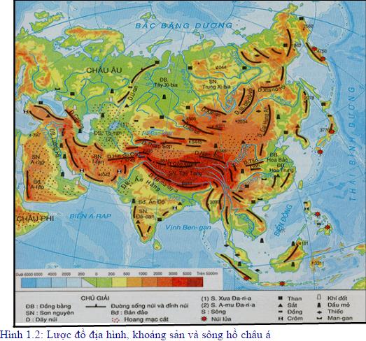Lược đồ khoáng sản Châu Á