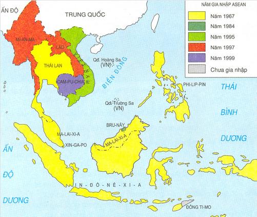 Lược đồ các nước thành viên ASEAN