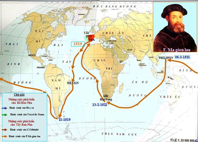 Hành trình đi vòng quanh trái đất của Ma Gien lăn