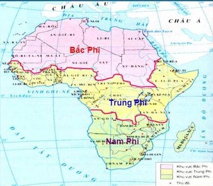 Lược đồ ba khu vực châu Phi