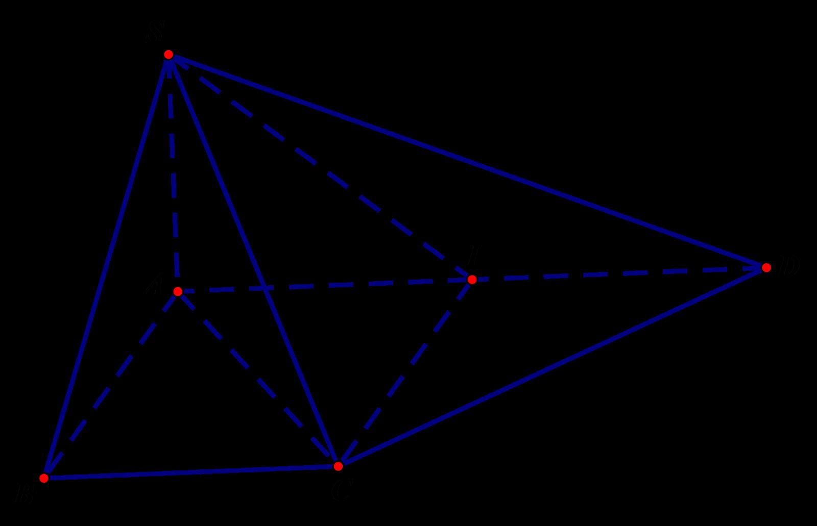 Hình chóp S.ABCD đáy ABCD là hình thang vuông tại A và B
