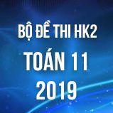 Bộ đề thi HK2 môn Toán 11 năm 2019