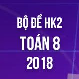Bộ đề thi HK2 môn Toán lớp 8 năm 2018