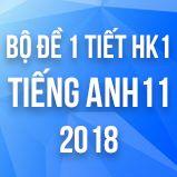 Bộ đề kiểm tra 1 tiết HK1 môn Tiếng Anh lớp 11 năm 2018