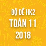 Bộ đề thi HK2 môn Toán 11 năm 2018