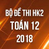 Bộ đề thi HK2 môn Toán lớp 12 năm 2018