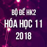 Bộ đề thi HK2 môn Hóa lớp 11 năm 2018