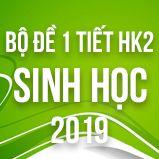 Bộ đề kiểm tra 1 tiết HK2 môn Sinh học lớp 12 năm 2019