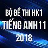 Bộ đề thi HK1 môn Tiếng Anh lớp 11 năm 2018