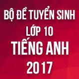 Bộ đề thi tuyển sinh vào lớp 10 THPT môn Tiếng Anh năm 2017