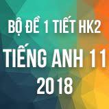 Bộ đề kiểm tra 1 tiết HK2 môn Tiếng Anh lớp 11 năm 2018