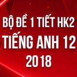 Bộ đề kiểm tra 1 tiết HK2 môn Tiếng Anh lớp 12 năm 2018