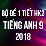Bộ đề kiểm tra 1 tiết HK2 môn Tiếng Anh lớp 9 năm 2018