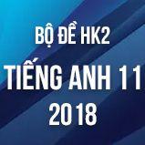 Bộ đề thi HK2 môn Tiếng Anh lớp 11 năm 2018