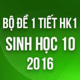 Bộ đề kiểm tra 1 tiết HK1 môn Sinh học lớp 10 năm 2016