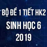 Bộ đề kiểm tra 1 tiết HK2 môn Sinh học lớp 6 năm 2019