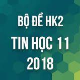 Bộ đề thi HK2 môn Tin học lớp 11 năm 2017-2018