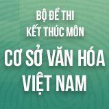 Bộ đề thi kết thúc học phần môn Cơ Sở Văn Hóa Việt Nam