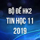 Bộ đề thi HK2 môn Tin học lớp 11 năm 2019