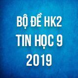 Bộ đề thi HK2 môn Tin học lớp 9 năm 2019
