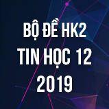 Bộ đề thi HK2 môn Tin học lớp 12 năm 2019