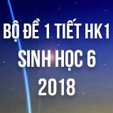 Bộ đề kiểm tra 1 tiết HK1 môn Sinh học lớp 6 năm 2018