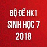 Bộ đề thi HK1 môn Sinh học lớp 7 năm 2018