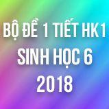Bộ đề kiểm tra 1 tiết HK1 môn Địa lý lớp 6 năm 2018
