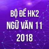 Bộ đề thi HK2 môn Ngữ văn lớp 11 năm 2018