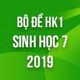 Bộ đề thi HK1 môn Sinh học lớp 7 năm 2019