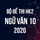 Bộ đề thi HK2 môn Ngữ Văn lớp 10 năm 2020
