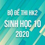 Bộ đề thi HK2 môn Sinh học lớp 10 năm 2020