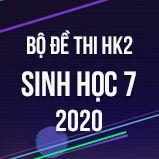 Bộ đề thi HK2 môn Sinh học lớp 7 năm 2020
