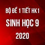 Bộ đề kiểm tra 1 tiết HK1 môn Sinh lớp 9 năm 2020