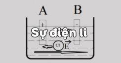 Bài 1: Sự điện li