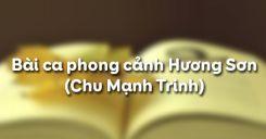Bài ca phong cảnh Hương Sơn - Chu Mạnh Trinh