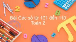Các số từ 101 đến 110