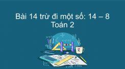 14 trừ đi một số: 14-8
