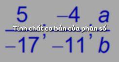 Bài 3: Tính chất cơ bản của phân số
