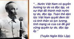 Tuyên Ngôn Độc Lập - Hồ Chí Minh - Phần 2: Tác phẩm