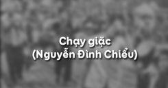 Chạy giặc của Nguyễn Đình Chiểu